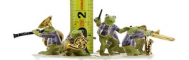 Hagen Renaker Miniature Toadally Brass Frog Band Complete 8 Piece Set image 2