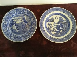 Set of 2 Spode Blue Room Collection Georgian Series 'Willow' and 'Woodman'  - $46.74
