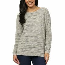 NEW Women's Leo & Nicole Ladies' Pointelle Sweater Opus Grey