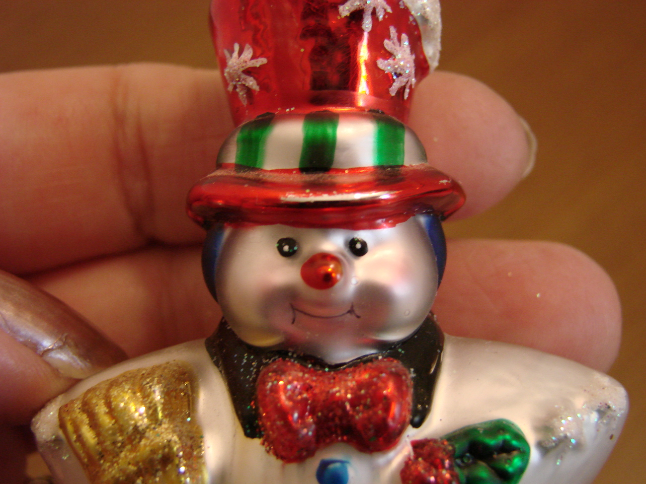 Christopher Radko Glass Small Star Snowman with Box  image 2