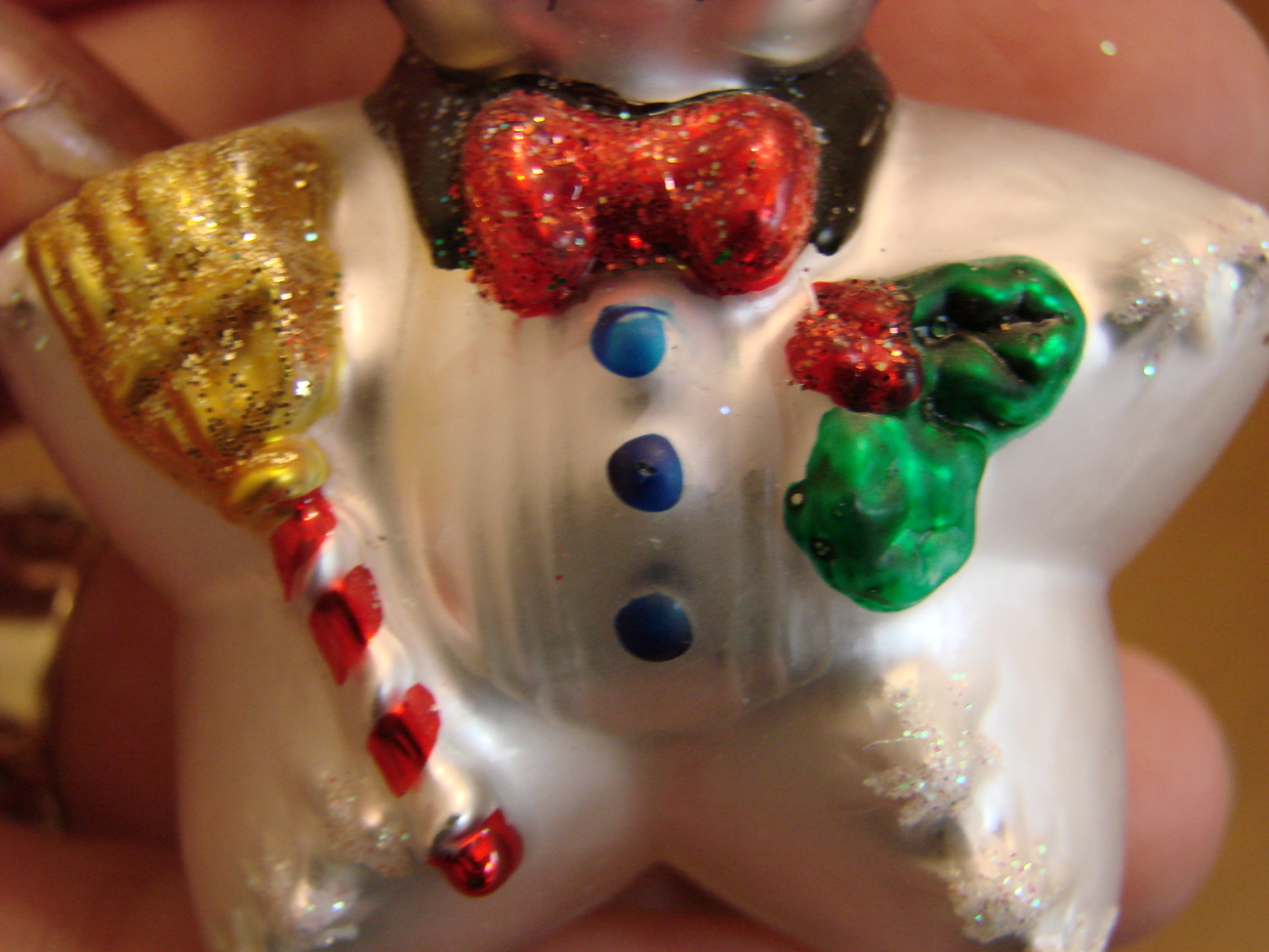 Christopher Radko Glass Small Star Snowman with Box  image 3