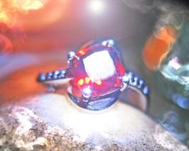 Haunted ring EXTREME PROTECTOR MALE DJINN Genie 925 GARNET Cassia4 - $207.77