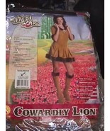 Sexy Cowardly Lion Wizard Of Oz Animal Adult Womens Halloween Costume Set M 2-4