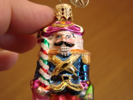 Christopher Radko Glass Nutcracker Dandy Gem with Box  image 3