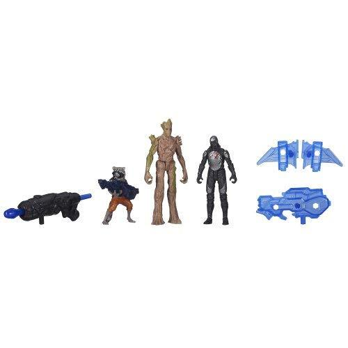 Marvel Guardians of The Galaxy Groot, Rocket Raccoon and Sakaaran Trooper Figure