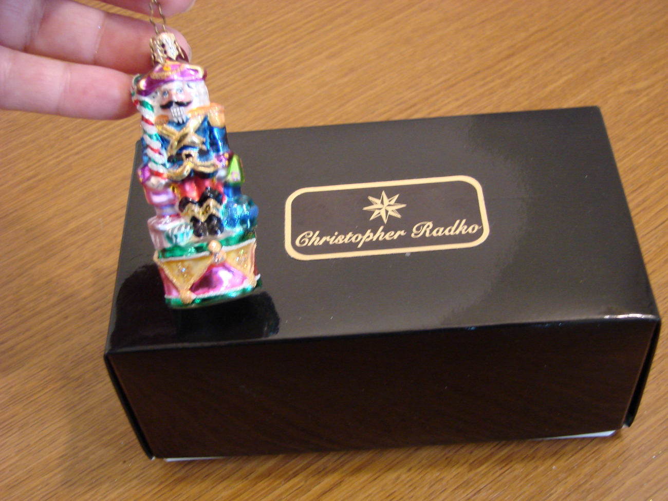Christopher Radko Glass Nutcracker Dandy Gem with Box  image 4