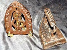 Antique 6 Sad Iron with Trivet AB 565-M image 3