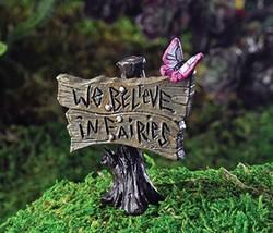 """Outdoor Garden Statue Butterfly Sign """"We Believ... - $16.24"""