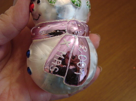 Blown Glass Xmas 2001 Snowman Ornament from Poland image 3