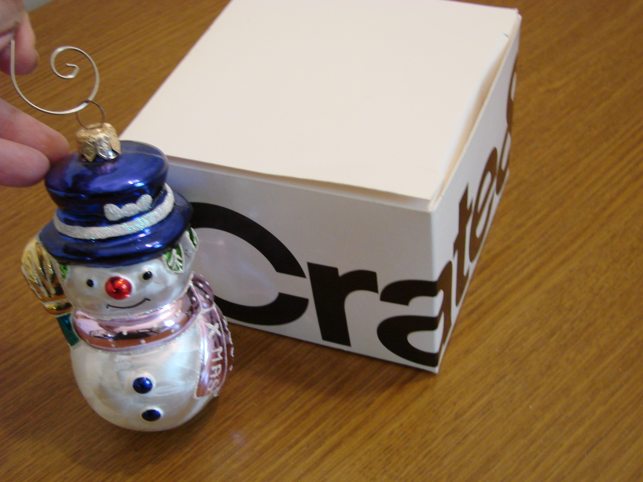 Blown Glass Xmas 2001 Snowman Ornament from Poland image 4