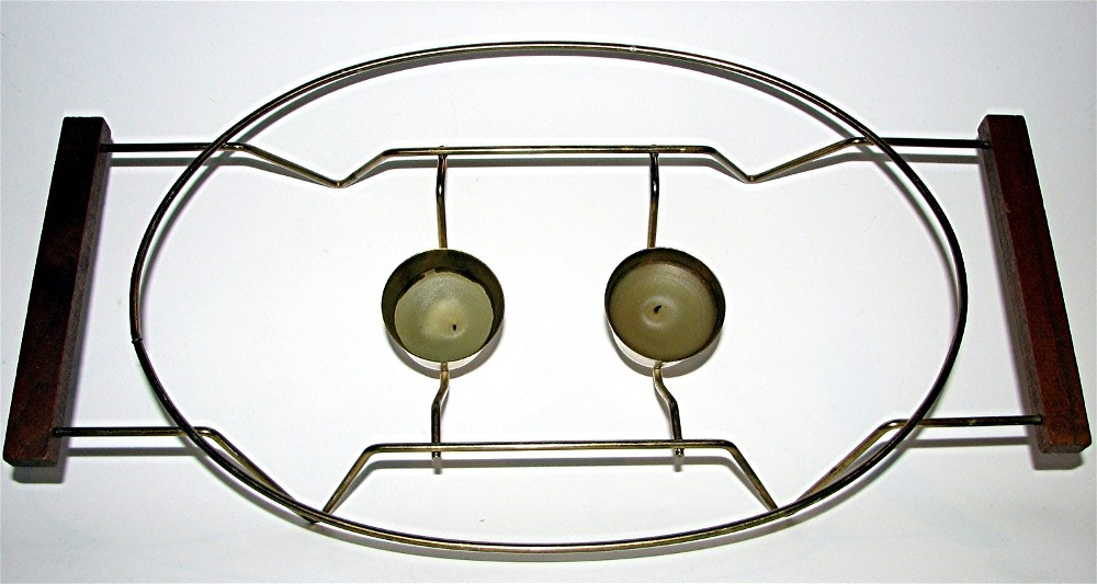 Vintage warming Platter with Stand by Glasbake image 3