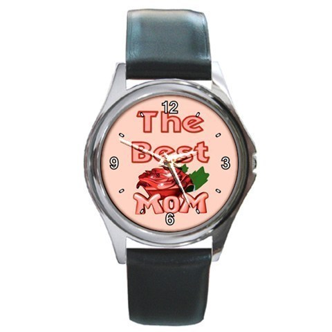 Primary image for Best Mom Rose Love Unisex Round Metal Watch Gift model 36028261