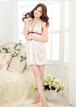 SL169-9084 sexy satin neck halterr dress, with g-string, free size, fit to S/M/L image 4