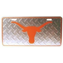 Texas Longhorns Diamond Plate License Plate - $9.49