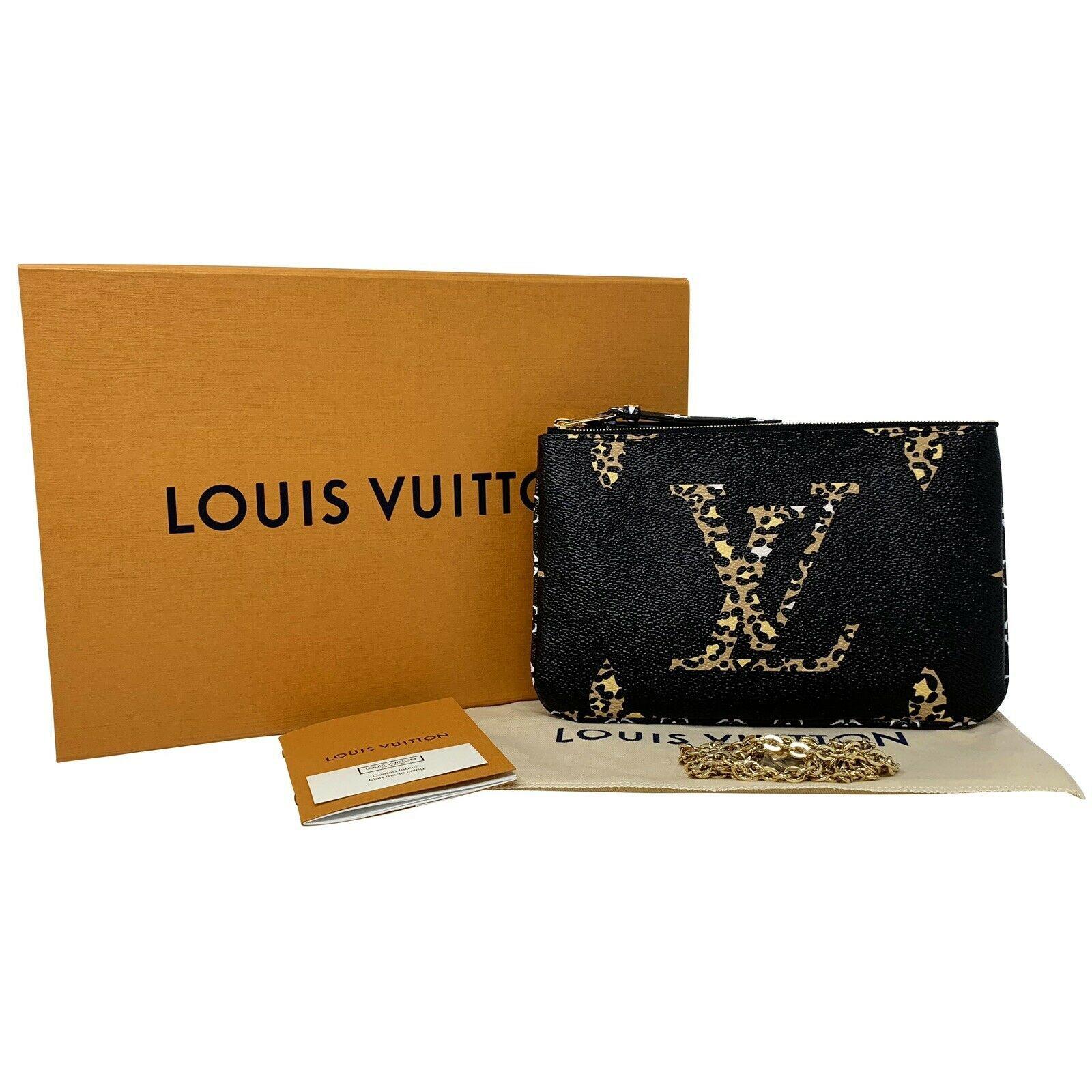 NEW Louis Vuitton Pochette Double Zip Black Jungle Giant Monogram Crossbody Bag image 12
