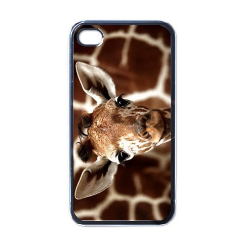 Primary image for NEW iPhone 4 Hard Black Case Cover Giraffe Baby Cool Gift Model 34962587