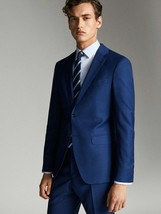 Massimo Dutti Mens Wool Blazer Travel Suit City Slim US 42 EU 52 Jacket ... - $188.09