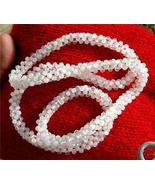 27 INCHES 50 GRAMS FINE MOONSTONE ROPE NECKLACE - $300.00