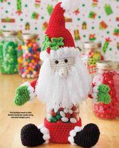 Y914 Crochet Pattern Only Santa Jar Cover Christmas Pattern - $7.50