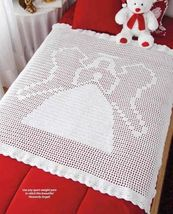 Y920 Crochet PATTERN ONLY Heavenly Angel Christmas Afghan Pattern - $8.50