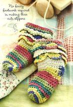 Y925 Crochet PATTERN ONLY Frilly Feet Baby Socks Easy Pattern - $7.50