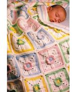 Y935 Crochet PATTERN ONLY Precious Petals Baby Afghan Blanket Pattern - $9.50