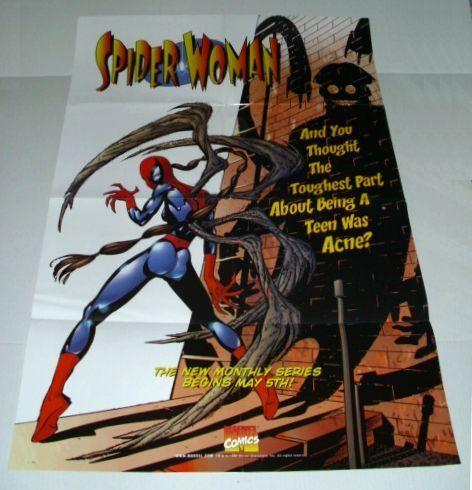 1999 MARVEL COMICS SPIDER-WOMAN 3 x 2 FT PROMO POSTER 1