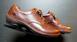 Women's Born Brown Leather Casual Cool Oxford Sz. 38/7 MINT! - $46.84 CAD
