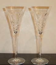 Waterford Pineapple Hospitality Set Of 2 Champagne Flutes - $49.00