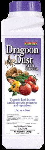 1Lb Bonide Dragoon w/ Dust Copper & Carbaryl For Vegetable Insecticide Fungicide