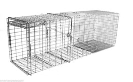 Flush Mount Rigid Live Trap Raccoon Large Cat Size 36L x 10W x 12H  Made In USA image 2