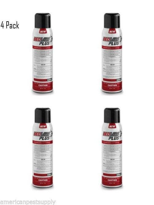 4 Cans Bedlam Plus  Bed Bug Killer Spray Kill Resistant Bed Bugs and Their Eggs