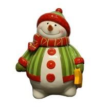 2009 Gourmet Fitz & Floyd Christmas Snowman Cookie Jar  - $29.03