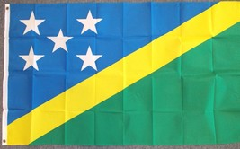 "SOLOMON ISLANDS 3X5' FLAG NEW 3'X5' 3 X 5 FEET 36X60"" - $9.85"