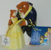 Disney's Beauty & the Beast Dancing Ceramic Salt and Pepper Shakers Set, UNUSED - $26.11