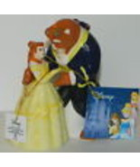 Disney's Beauty and the Beast Dancing Ceramic Salt and Pepper Shakers Se... - $29.02
