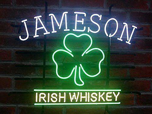 "New Jameson Irish Whiskey Beer Bar Neon Light Sign 24""x20"""