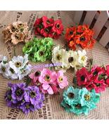 6pcs/lot High quality Real Touch Small Artificial Poppy Bouquet/ Wedding... - $1.06