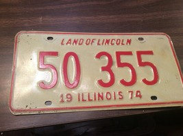 Vintage Illinois License Plate -  - Single Plate  1974 - $12.86