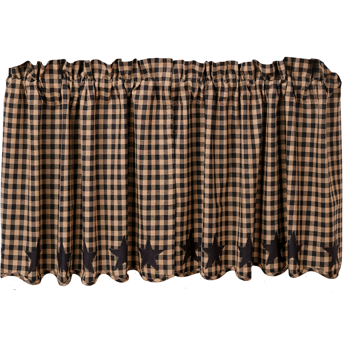 BLACK STAR Scalloped Tier - Set of 2 - 24x36 - Farmhouse Black/Tan - VHC Brands