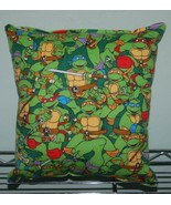 Teen Age Mutant Ninja Turtle Pillow TMNT Pillow Grouped Turtles HANDMADE... - $9.99