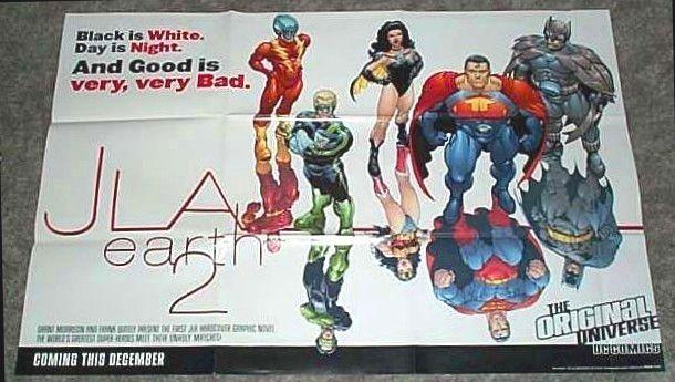 JLA EARTH POSTER:BATMAN/SUPERMAN/WONDER WOMAN/GREEN LANTERN