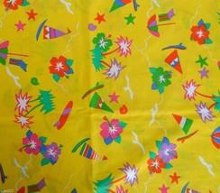 "Hoffman California Fabrics Beach Babies Fun Yellow Cotton Fabric 42""x42""... - ₨735.33 INR"