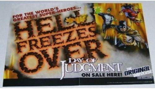 1999 JLA DC COMICS POSTER:BATMAN/GREEN LANTERN/DEMON:1990's
