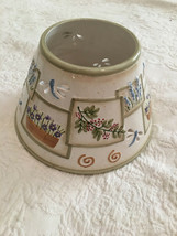 LARGE YANKEE  CANDLE TOPPER / SHADE--FITS LARGE CANDLES    FLOWERS      EUC - $26.10