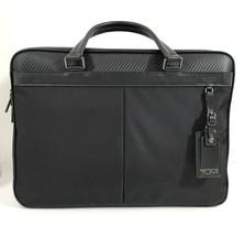 NWT TUMI Men's Berwick Double Zip Nylon Briefcase, Black - $419.50