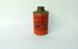 Vintage Fiebing's Prime Neatsfoot Oil Compound 8 oz Metal Can - $9.80
