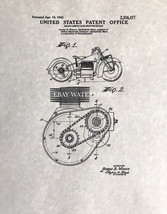 Official Indian Motorcycle 1943 US Patent Art Print Home Decor Poster Vi... - $9.10