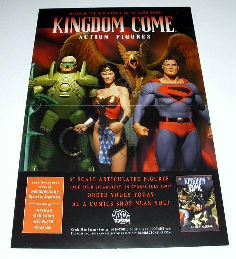 ALEX ROSS JLA KINGDOM COME FIGURE POSTER:SUPERMAN/HAWKMAN +