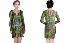 TWIZTID Green Bones  Full print 3D All Over Print Long Sleeve Night Gown - $18.99+